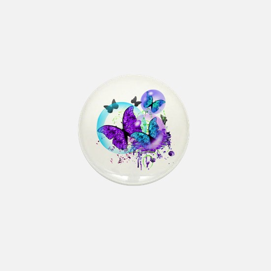 Bubble Butterflies CM BB Mini Button