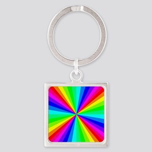 Colorful Art Square Keychain