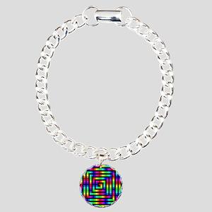 Colorful Art Charm Bracelet, One Charm