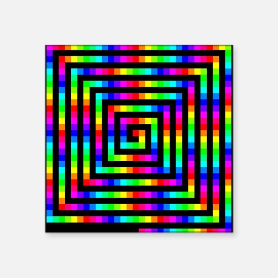 "Colorful Art Square Sticker 3"" x 3"""