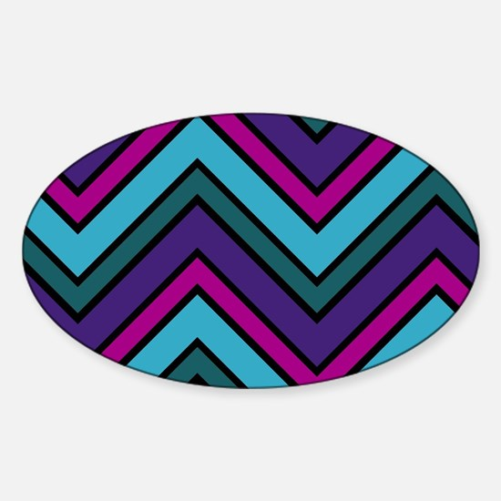 Abstract Art Sticker (Oval)