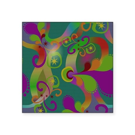 """Abstract Art Square Sticker 3"""" x 3"""""""