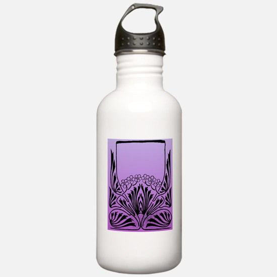 Purple Art Water Bottle