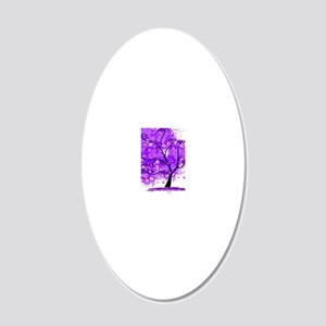 Purple Tree Art 20x12 Oval Wall Decal