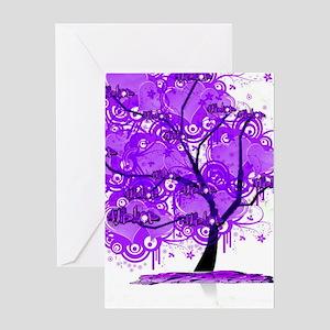 Purple Tree Art Greeting Card