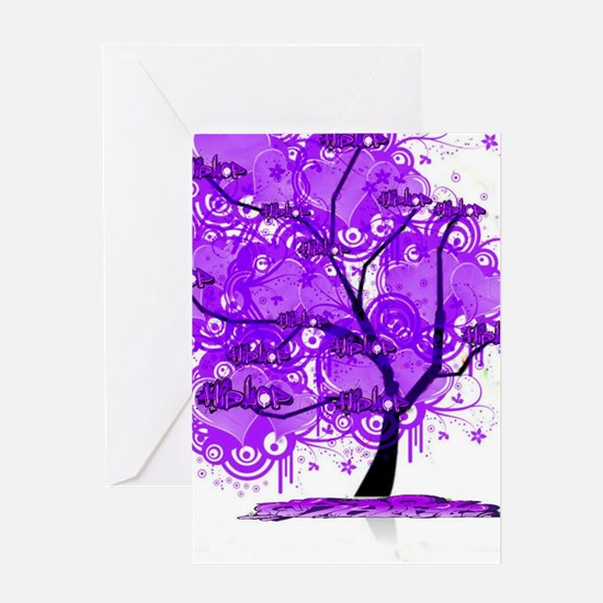 Purple Tree Art Greeting Card