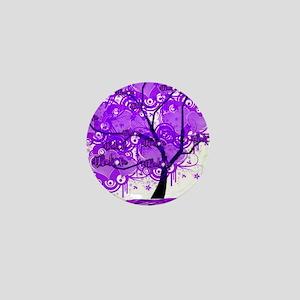Purple Tree Art Mini Button