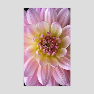 Dahlia Flower Sticker (Rectangle)