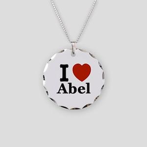 I love Abel Necklace Circle Charm