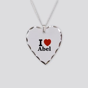 I love Abel Necklace Heart Charm