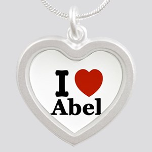 I love Abel Silver Heart Necklace