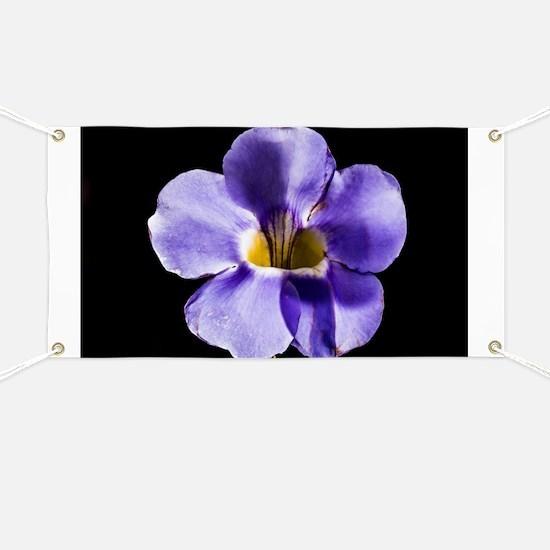 Blue Flower Banner