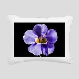 Blue Flower Rectangular Canvas Pillow
