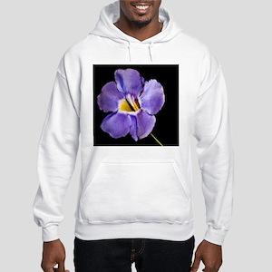 Blue Macro Flower Hooded Sweatshirt