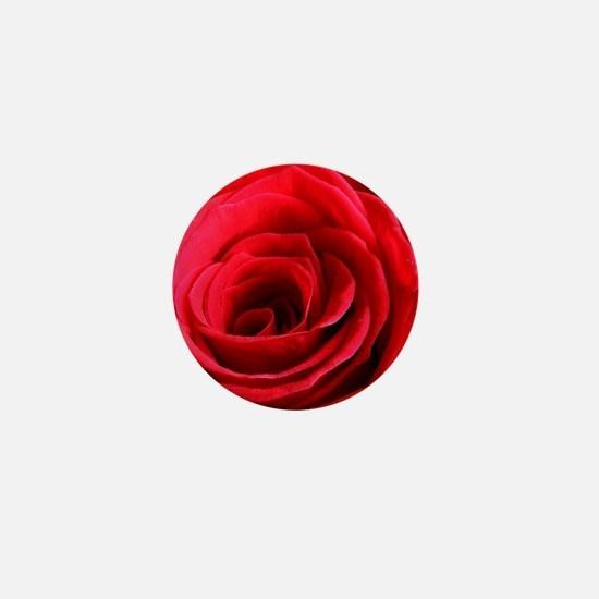 Red Rose Mini Button