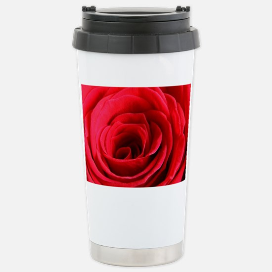 Red Rose Stainless Steel Travel Mug