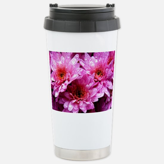 Flowers Stainless Steel Travel Mug
