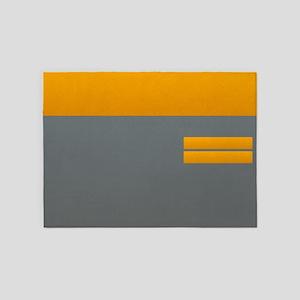Grey Orange Industrial Modern Absrtact Loft 5'x7'A