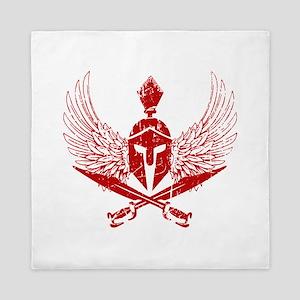 Wings of glory red Queen Duvet