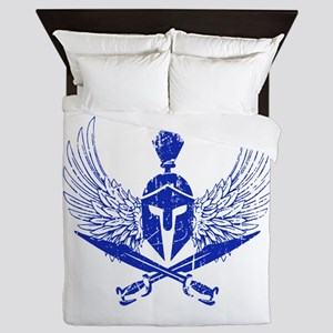 Wings of glory royal blue Queen Duvet