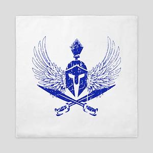 Wings of glory royal blue Queen Duvet