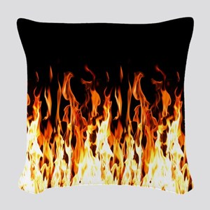 Flames Womens All Over Print T-Shirt Woven Throw P