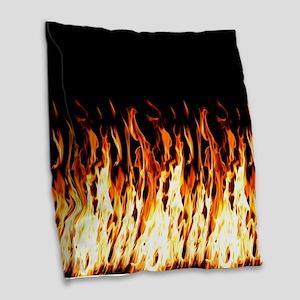 Flames Womens All Over Print T-Shirt Burlap Throw