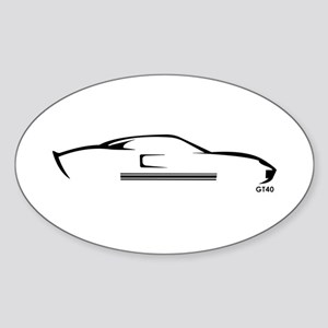 Ford GT40 Oval Sticker