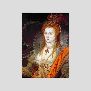 Queen Elizabeth I 5'x7'Area Rug