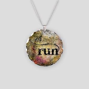 Run by Vetro Jewelry & Desig Necklace Circle Charm