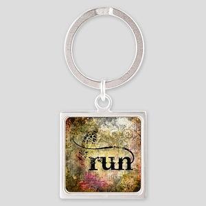 Run by Vetro Jewelry & Designs Square Keychain