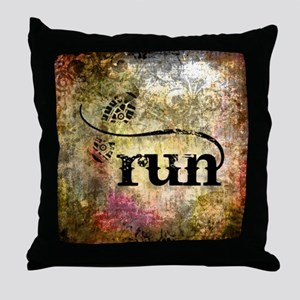 Run by Vetro Jewelry & Designs Throw Pillow