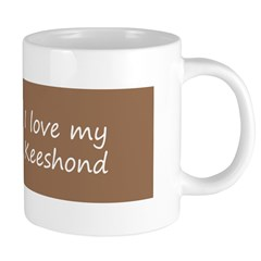 Keeshond Playtime 20 oz Ceramic Mega Mug