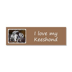 Keeshond Playtime Car Magnet 10 x 3