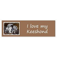 Keeshond Playtime Sticker (Bumper 10 pk)