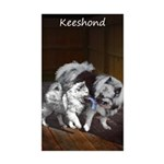 Keeshond Playtime Sticker (Rectangle 10 pk)