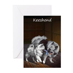 Keeshond Playtime Greeting Cards (Pk of 10)