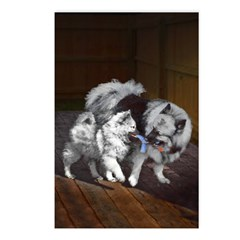 Keeshond Playtime Postcards (Package of 8)