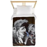 Keeshond Playtime Twin Duvet Cover