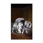 Keeshond Playtime Sticker (Rectangle 50 pk)