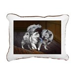 Keeshond Playtime Rectangular Canvas Pillow