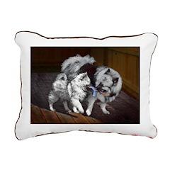 Keeshond Playtime Rectangular Canvas Pillow