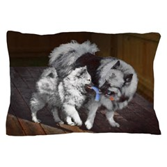 Keeshond Playtime Pillow Case