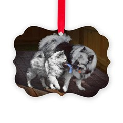 Keeshond Playtime Ornament