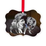 Keeshond Playtime Picture Ornament