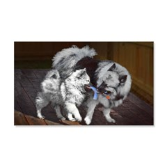 Keeshond Playtime Wall Decal