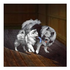 Keeshond Playtime Square Car Magnet 3