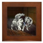 Keeshond Playtime Framed Tile
