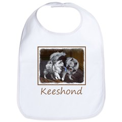 Keeshond Playtime Cotton Baby Bib
