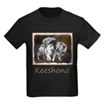 Keeshond Playtime Kids Dark T-Shirt